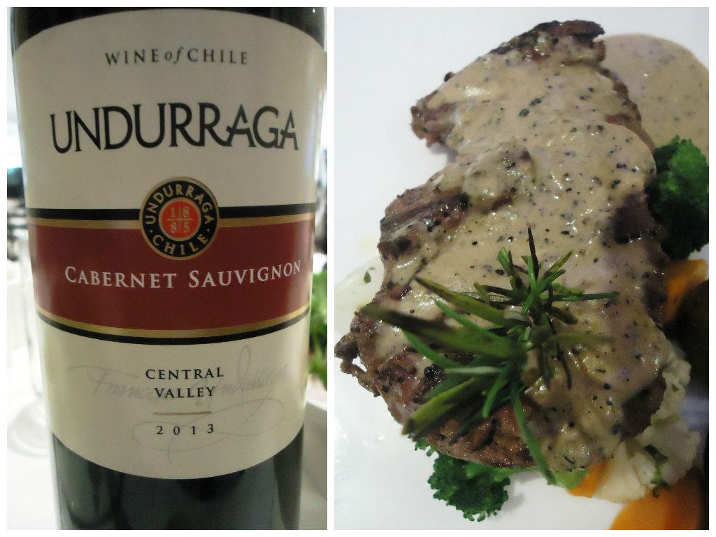pepper steak with undurraga cabernet sauvignon fotor