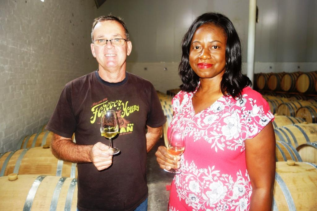 A special sampling with winemaker Niel Bester at Plaisir de Merle's cellar where wines are aged in French oak.